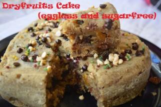 Dry fruits Cake (eggless and sugarfree)