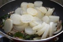 With pressure-cooked radish