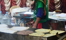 Making of akki roti and ragi roti