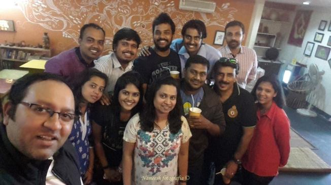Groupie with foodies