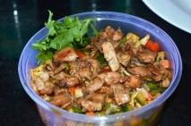 Vietnamese Chicken Salad with sweet and sour dressing