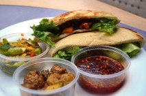 Pita pockets with corn fritters