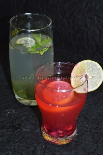 Pomegranate Lemonade and Lemon Mojito - by KIDS