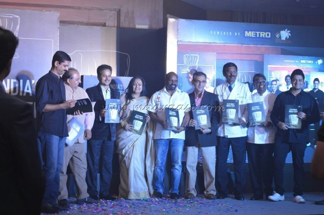 8 of the chefs and Author with 25 of India's Biggest Chefs Book