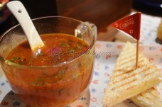 Lemon Grass with Roasted Tomato served with Chilli Cheese Toast
