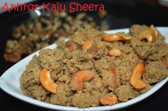Akhrot Kaju Sheera
