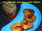 Fish Fry (Fish and Chips Style) with Strawberry Kiwi Mojito