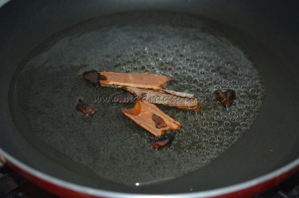 Boiling water with cinnamon and star anise
