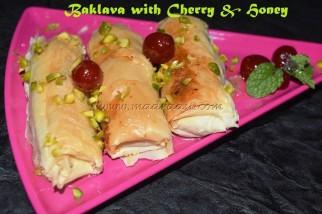 Baklava with Cherry & Honey