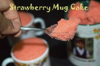 2 mins Strawberry Mug Cake