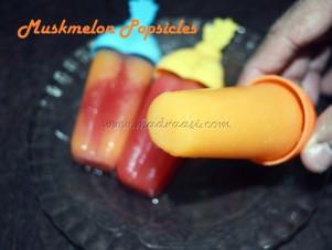 Muskmelon Popsicles