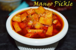 Mango pickle, mango pickle recipe, mangai urugai, mangai urugai recipe, tamil recipe, tamil food, urugai recipe, easy oorukai recipe, easy pickle recipe, raw mango pickle recipe, Indian pickle recipe, images of mango pickle, picture of mangai urugai