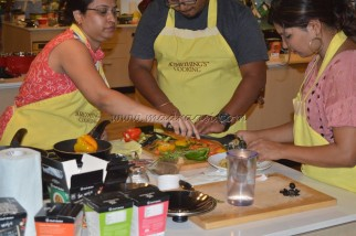 Chef's Basket cook-off event at Something's Cooking