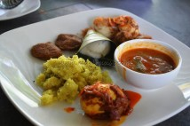 South Indian breakfast - Idly, upma, gaulouti, kuzhipaniyaram