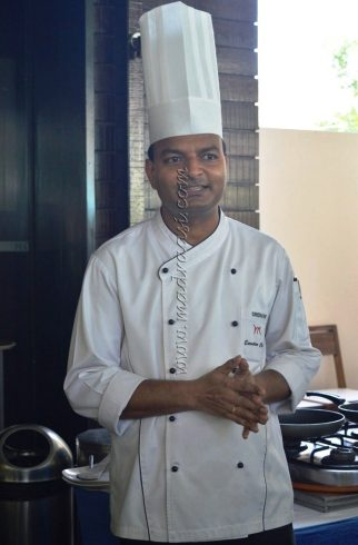 Chef Sridhar - talking about the preparation of these dishes