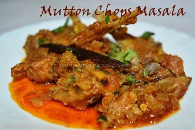Mutton (lamb) Chops Masala