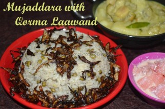 Mujaddara with Qorma Laawand