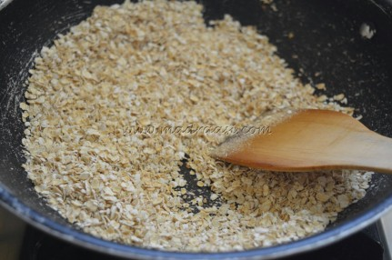 oats getting roasted
