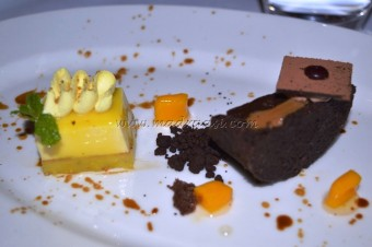 Duet of Petit Desserts paired with Iced JD Tennessee Honey
