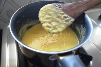 Egg mixture getting thicken (Custard)
