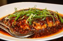 Steamed fillet grouper with black pepper and bean sauce