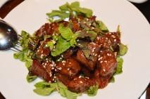 • Diced Tenderloin in yakiniku sauce and twist of mint