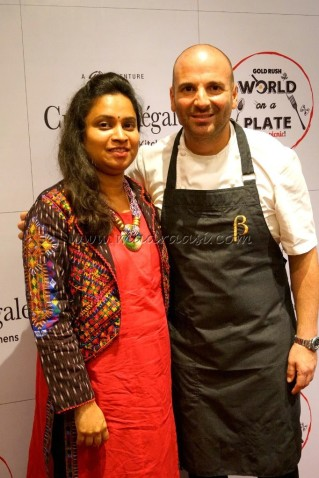 A precious picture - me with Master Chef George Colambaris