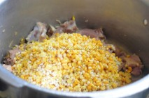 With soaked Dal/Lentils