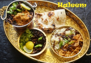 Haleem with Ghee Rice and Naan