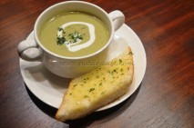 Broccoli Soup infused with tea