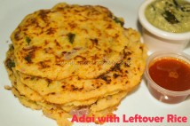 Adai with Leftover Rice