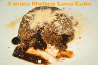 No Bake Molten Choco Lava Cake