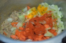 With carrot, chow-chow, chilli powder, turmeric powder and salt