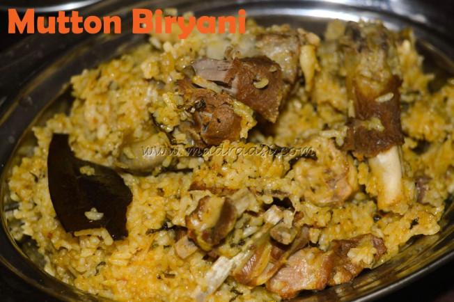 Mutton Biryani - TamilNadu Style