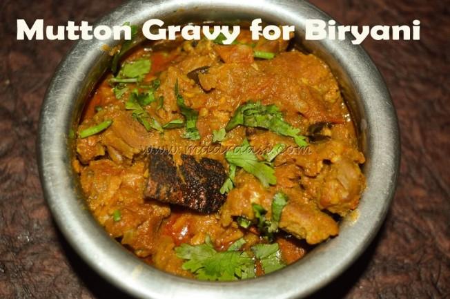 Mutton Gravy for Biryani