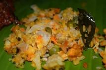 Cabbage, carrot, green peas stir-fry