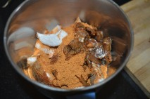 Bisiebelebath masala, coconut and tamarind about to griend