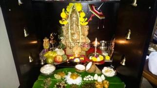 Vinayagar Chaturthi at our home