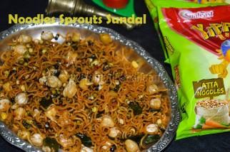 Noodles Sprouts Sundal Recipe / Noodles sundal recipe / Sundal recipe / Sprouts recipe