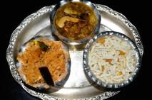 Puliyodharai, Mixute of Aval,pori and kadai, Bamboo Rice Sweet Pongal