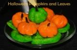 Halloween Pumpkins and Leaves