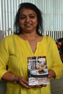 Seema Pinto with her Diabetic recipe book