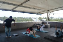 At fitness center