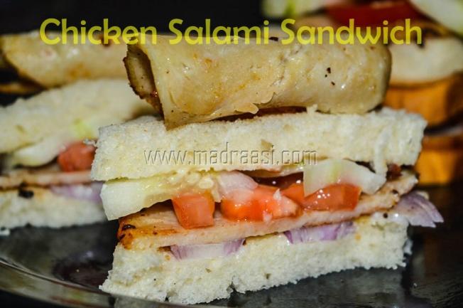 Chicken Salami Sandwich, chicken salami recipe, chicken salami snadwich recipe, protein rich food, protein rich food, muscle building recipe, Indian protein rich food, Indian protein rich recipe