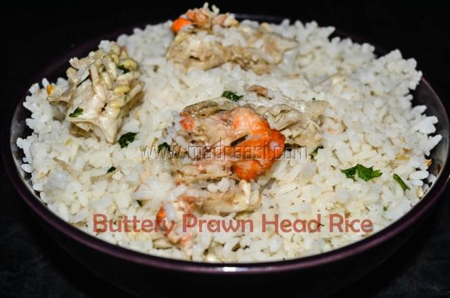 Buttery Prawn Head Rice, butter prawn rice, butter prawn rice, images of buttery prawn rice, picture of buttery prawn rice, ral sadham, ral sory, eral, eral sadham, eral sorru, prawn recipe, yera recipe, yeral recipe, ral recipe, eral recipe, raal recipe, raal rice, images of raal recipe, images of raal rice, seafoodrice, images of seafood rice, picture of seafood rice, tamil recipe, tamil seafood recipe, tamil prawn recipe, prawn head recipe, prawn head rice, images of prawn head recipe, images of prawn head rice, indian seafood recipe, images of indian seafood recipe, picture of Indian seafood, images of Indian seafood recipe