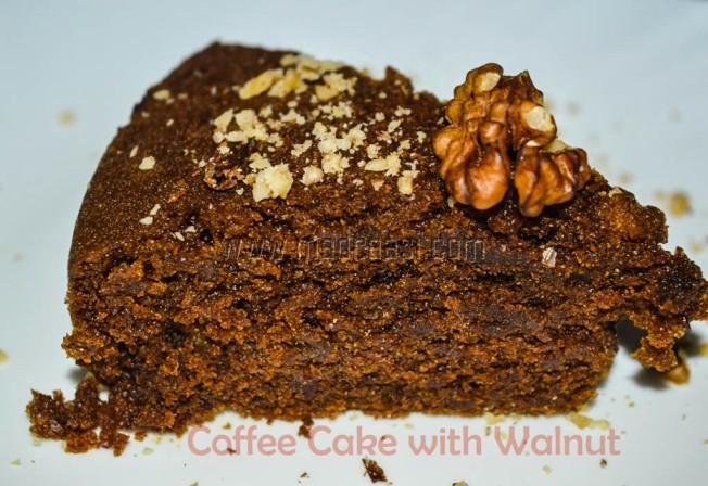 Vegan Coffee Cake with Walnuts, vegan cake, vegan cake recipes, vegan coffee cake, vegan coffee cake recipes, eggless coffee cake, eggless coffee cake recipe, diabetics cake recipe, diabetics dessert recipe, weightloss cake recipe, weight loss cake recipe, healthy cake, healthy cake recipe, wheat flour cake recipe, wheat flour cake, vegan wheat cake, vegan wheat cake recipe