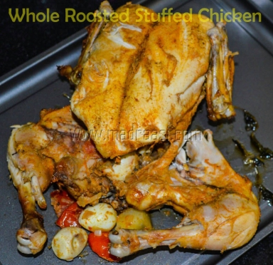 Whole Roasted Stuffed Chicken