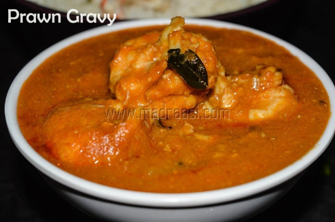 Prawn coconut milk curry, tamil recipe, tamil recipes, prawn coocnut milk curry, prawn recipe, prawn curry, raal kulambu, raal kulambu recipe, prawan coconut milk recipe, tamil prawn curry, tamil seafood recipe, images of tamil prawn curry, easy and simple prawn curry,