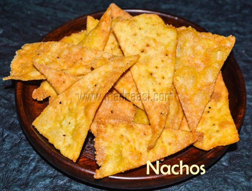 Nachos Chips, home-made Nachos Chips, nachos, nachos recipe, nacho recipe, nacho, home-made nachos, home-made nachos recipe, mexican nachos recipe, how to make nachos recipes, how to make nachos chips, tamil nachos recipe, nacho chips, nacho, how to make nacho at home, how to make nachos at home, easy nacho recipe, home made nacho recipe, nacho seimurai, nachos seimurai, nachos seivadhu yeppadi