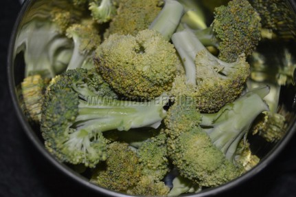 Broccoli about to grind